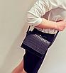 Сумка клатч женская через плечо с бантиком Черный, фото 2