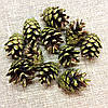 Шишки сосновые Зеленый винтажный 10штук
