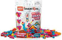 Конструктор Мега Блокс 200 разноцветных блоков, Mega Construx Inventions Candy