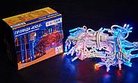 Гірлянда зовнішня DELUX ICICLE 108 LED бахрома 2x1m 27 flash мульти/білий IP44 EN, фото 1