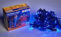 Гирлянда внешняя DELUX ICICLE 108 LED бахрома 2x1m 27 flash синий/черный IP44 EN