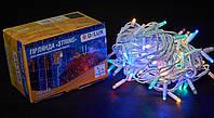 Гірлянда зовнішня DELUX STRING 100 LED нитка 10m (2x5m) 20 flash мульти/білий IP44 EN, фото 1