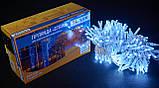 Гірлянда зовнішня DELUX STRING 200 LED нитка 20m (2x10m) 40 flash білий/білий IP44 EN, фото 2