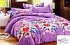 Двоспальний комплект постільної білизни Квітковий принт