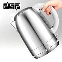 Електрочайник металевий DSP KK1114, чайник електричний