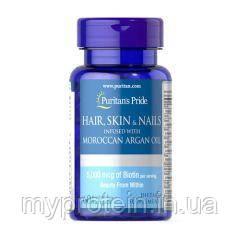 Puritan's Pride Витаминный комплекс Кожа + Волосы + Hair, Skin & Nails with Moroccan Argan Oil 60 sof