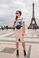 Кожаная юбка-карандаш Gepur 26284