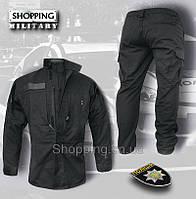 Форма полиции черная Украины Patrol Uniform Rip-Stop