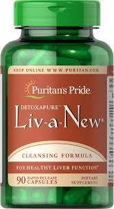 Puritan's Pride здоровье печени Liv-a-New 90 caps