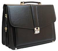 Классический мужской портфель из эко кожи AMO Польша SST11 черный, фото 1