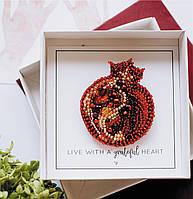 """Набор для вышивки бисером украшения на натуральном художественном холсте """"Гранат"""""""