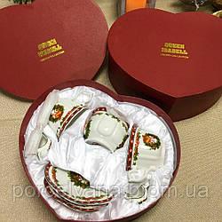 Кофейный набор посуды 9 пр фарфор