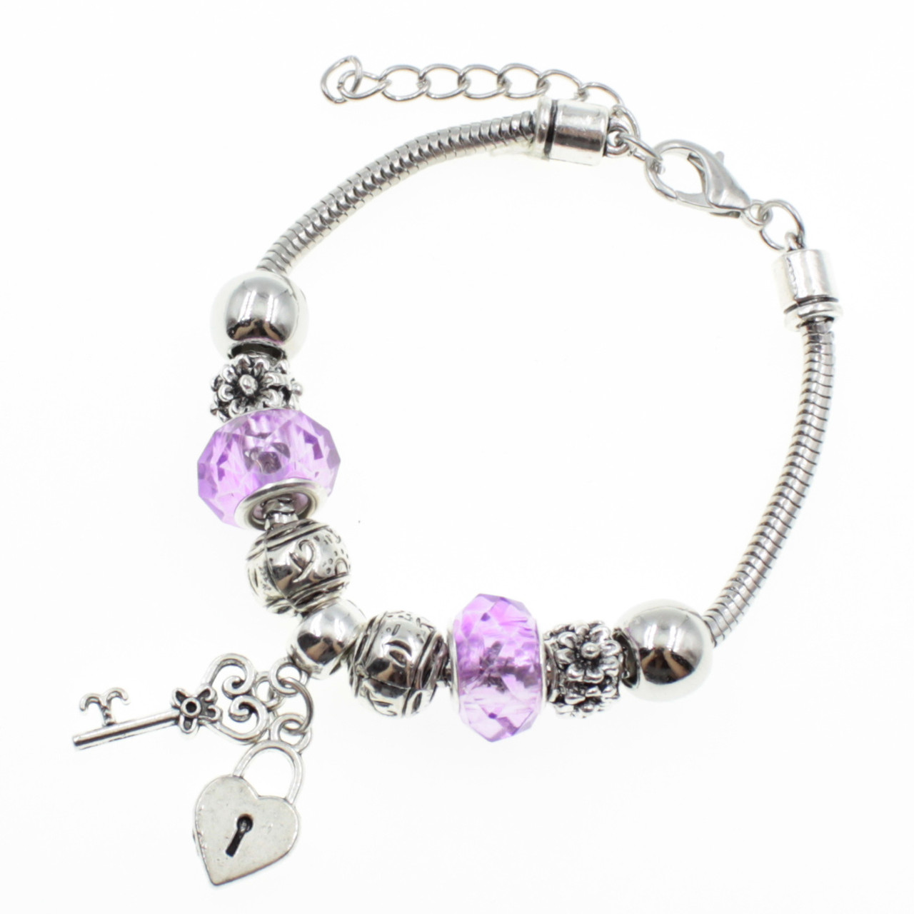 """Женский браслет в стиле Пандора  """"Bianca Pink"""""""