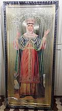 Икона равноапостольной княгини Ольги 180х85см