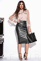 Модная кожаная юбка Gepur 25823