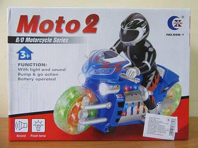 Музыкальный мотоцикл 598-1, свет, звук