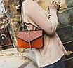 Сумка женская клатч на цепочке Classik Feshen Коричневый, фото 4
