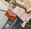 Сумка женская клатч на цепочке Classik Feshen Коричневый, фото 5