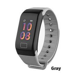 Фитнес браслет WearFit F1C с функцией тонометра (цветной экран). Серый.