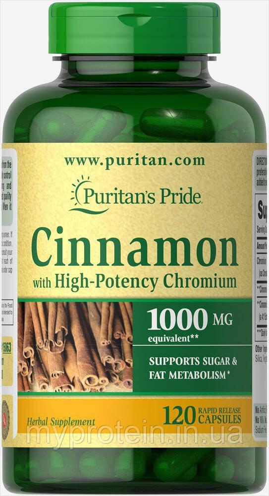 Puritan's Pride Для снижения веса Cinnamon with High-Potency Chromium 60 caps