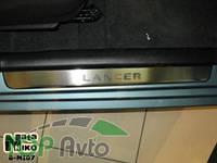 Nataniko Накладки на пороги Mitsubishi Lancer 2003-