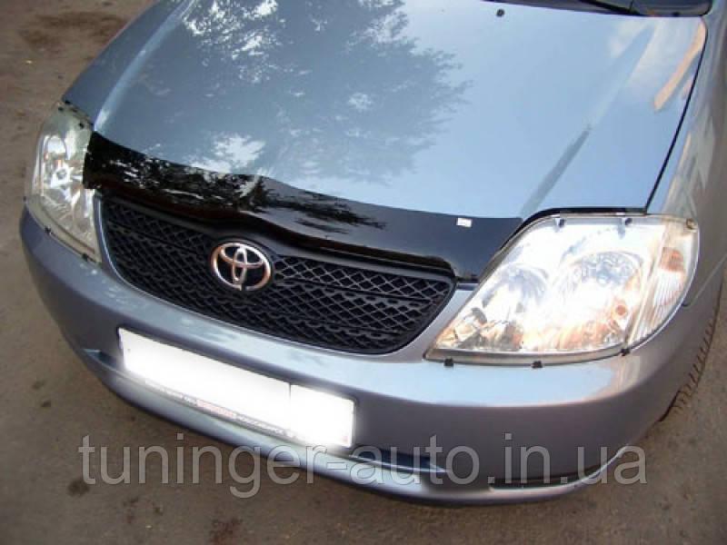 Мухобойка,дефлектор капота Toyota Corolla 2001-2006 (Sim)