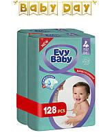 Подгузники детские Evy Baby Maxi Jumbo 4 (7-18 кг) Mega Pack 128 шт