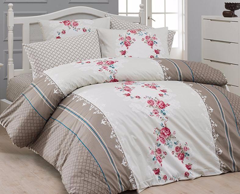 Комплект постельного белья First Choice Ранфорс 200x220 Delfina Vizon