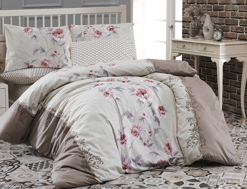 Комплект постельного белья First Choice Ранфорс 200x220 Karen Kahve