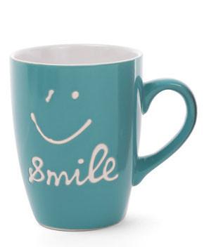 Кружка керамическая 350мл Smile, 6 цветов микс 593-247