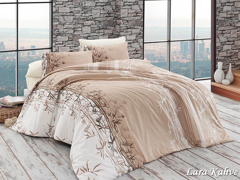 Комплект постельного белья First Choice Ранфорс 200x220 Lara Kahve