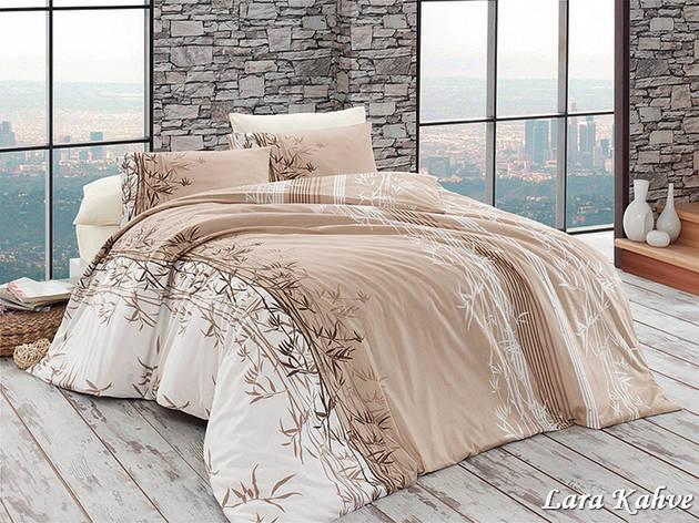 Комплект постельного белья First Choice Ранфорс 200x220 Lara Kahve, фото 2