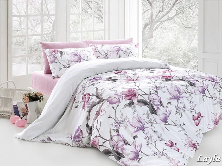 Комплект постельного белья First Choice Ранфорс 200x220 Layla