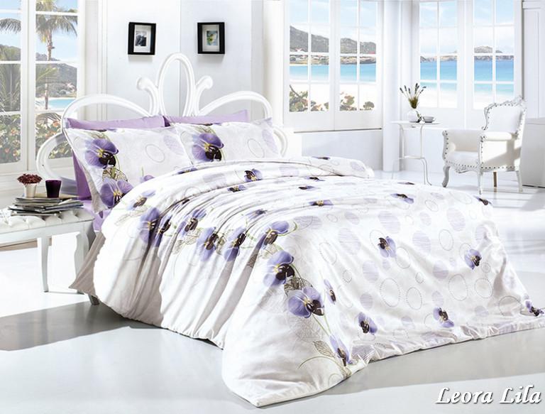 Комплект постельного белья First Choice Ранфорс 200x220 Leora Lila