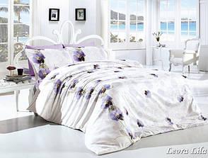 Комплект постельного белья First Choice Ранфорс 200x220 Leora Lila, фото 2