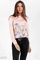 Свитшот цветочный принт Gepur 24215