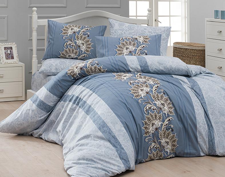 Комплект постельного белья First Choice Ранфорс 200x220 Nell Turkuaz