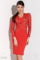 Гипюровое платье-футляр Gepur 24195