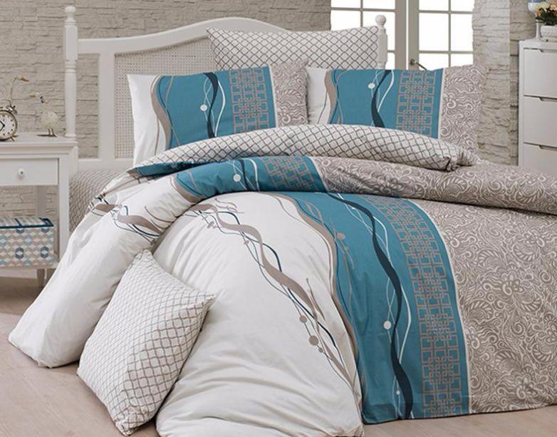 Комплект постельного белья First Choice Ранфорс 200x220 Neron Vizon