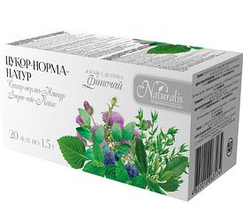 Антидіабетичний Фіточай «Цукор-Норма-Натур» 20 шт по 1.5 г