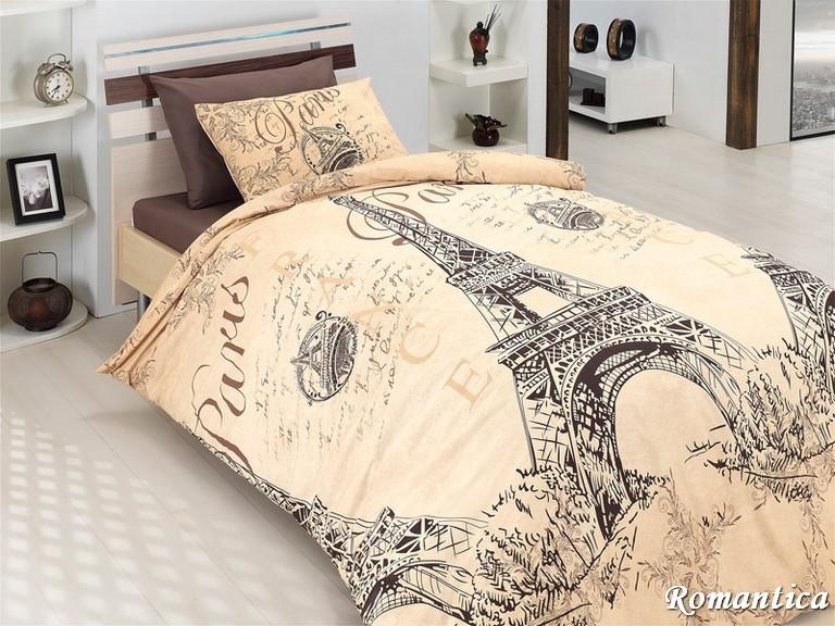 Комплект постельного белья First Choice Ранфорс 200x220 Romantica