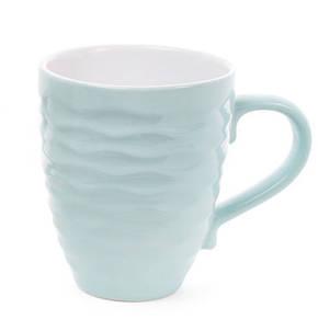 Кружка керамическая 440мл Волны, 3 цвета микс, пастельные тона (593-274), фото 2