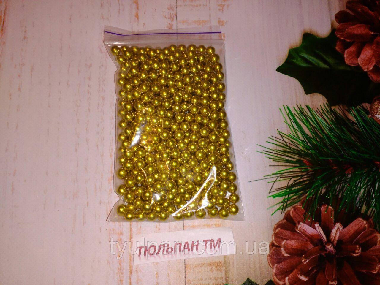 Посыпка сахарная  золото 8 мм 10г