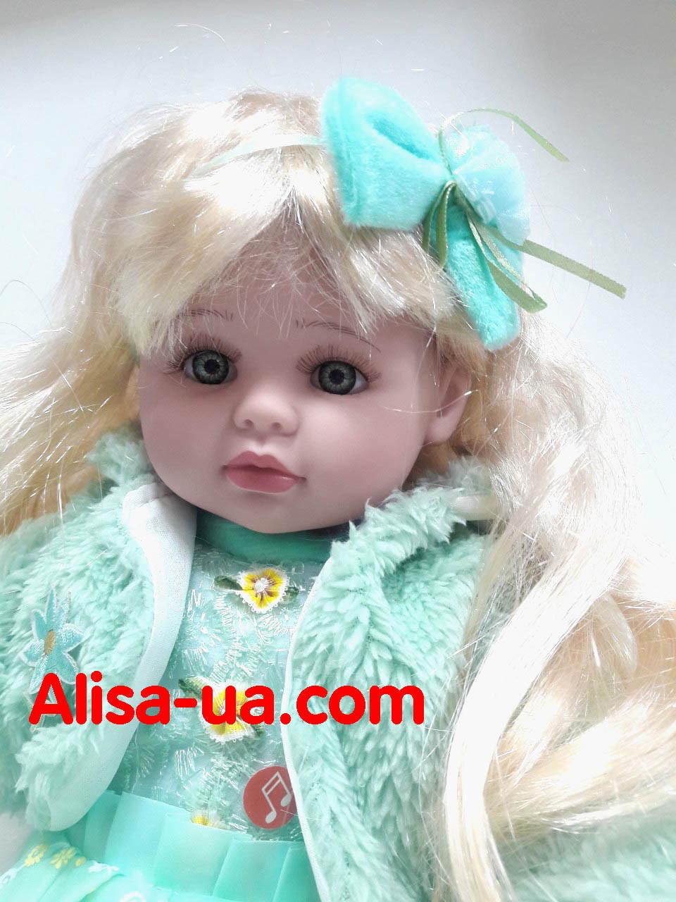 Говорящая кукла Маленькая Пани M 3682 RU салатовое платье