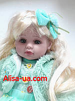 Говорящая кукла Маленькая Пани M 3682 RU салатовое платье, фото 1