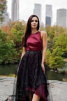 Уникальное платье-каскад Gepur 23791