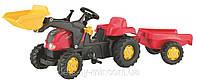 Оригинал. Трактор Педальный с Прицепом и Ковшом X trac Rolly Toys 35564