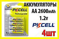 Аккумулятор PKCELL АА 2600 mAh блистер 4 шт, фото 1