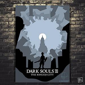 Постер Dark Souls, Тёмные души. Размер 60x42см (A2). Глянцевая бумага
