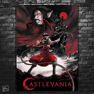 Постер Кастлвания, Castlevania, вампиры, Дракула, Бельмонт, Алукард. Размер 60x42см (A2). Глянцевая бумага